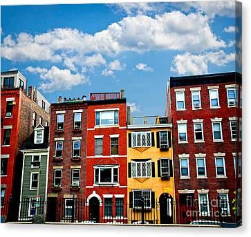 Boston Houses Canvas Print by Elena Elisseeva