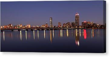 Boston Panoramic View Canvas Print by Juergen Roth