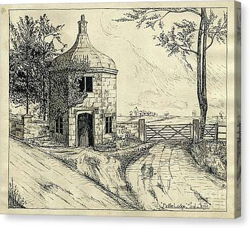 Bottle Lodge Pen Sketch 1932 Canvas Print by John Chatterley
