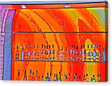Bottles Canvas Print by Barry R Jones Jr
