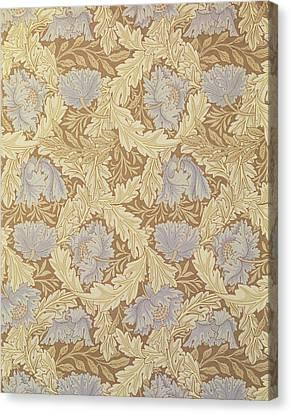 Bower Wallpaper Design Canvas Print by William Morris