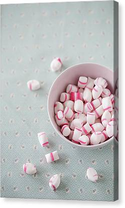 Bowl Of Sweets Canvas Print by Elin Enger