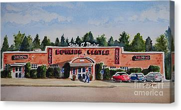Bowling Center Canvas Print by Andrea Timm