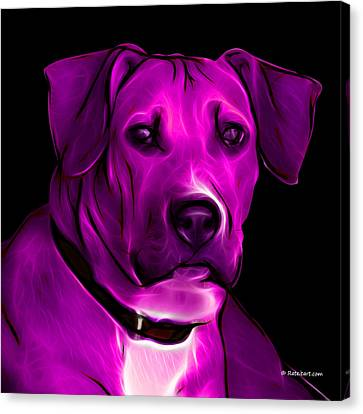 Boxer Pitbull Mix Pop Art - Magenta Canvas Print by James Ahn