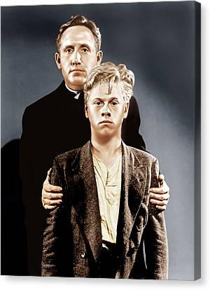 Boys Town, Top To Bottom Spencer Tracy Canvas Print by Everett
