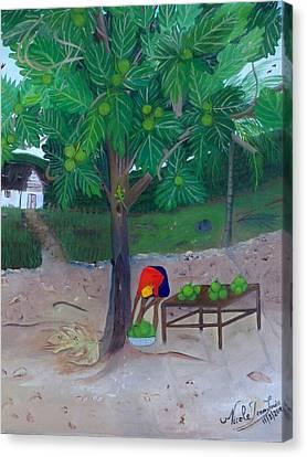Breadfruit Canvas Print by Nicole Jean-Louis
