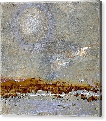 Breakwater Canvas Print by Carol Leigh