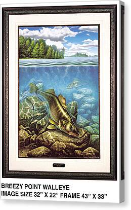 Breezy Point Walleye Canvas Print by JQ Licensing