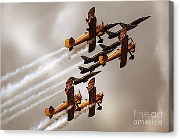 Breitling Jet Team With Wingwalkers Canvas Print by Angel  Tarantella