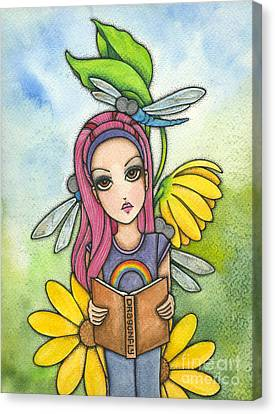 Brianna's Dragonflies Canvas Print by Nora Blansett