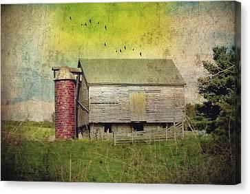 Brick Silo Canvas Print by Kathy Jennings