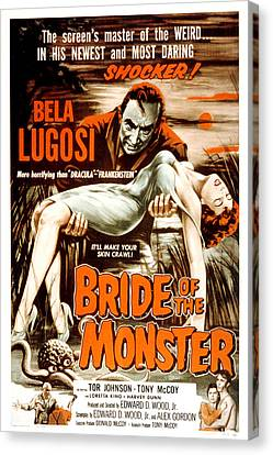 Bride Of The Monster, Bela Lugosi, 1955 Canvas Print by Everett