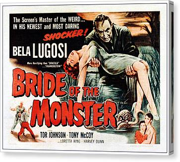 Bride Of The Monster, Top Bela Lugosi Canvas Print by Everett