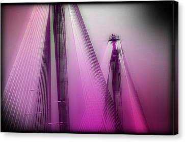 Bridge Cables One Canvas Print by Marty Koch