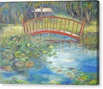 Bridge In Vero Beach Canvas Print by Barbara Anna Knauf