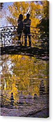 Bridge Of Love Canvas Print by Andrew Shlykoff