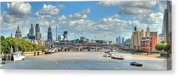 Bridge Over River Thames In London Canvas Print by Richard Fairless