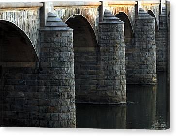 Bridge Pillars Canvas Print by Deborah  Crew-Johnson