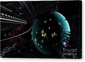 Bright Blisters Of Nuclear Energy Canvas Print by Brian Christensen