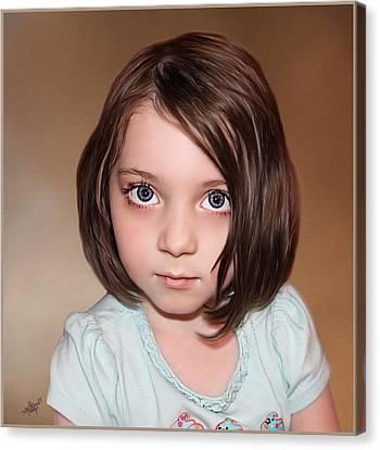 Bright Eyes Canvas Print by Tom Schmidt