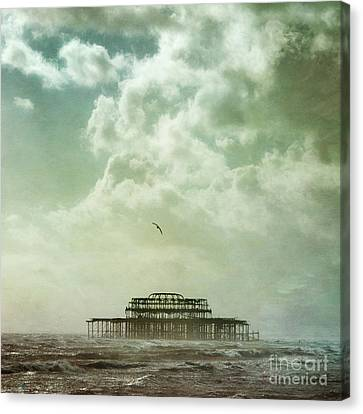 Brighton Seascape Canvas Print by Paul Grand