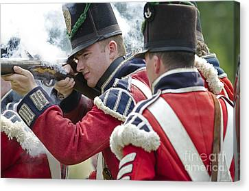 British Soldier Shooting Canvas Print by JT Lewis