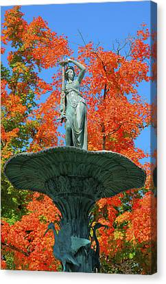 Broadway Fountain I Canvas Print by Steven Ainsworth