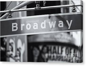 Broadway Street Sign II Canvas Print by Clarence Holmes