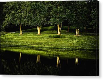 Broemmelsiek Park Green Canvas Print by Bill Tiepelman