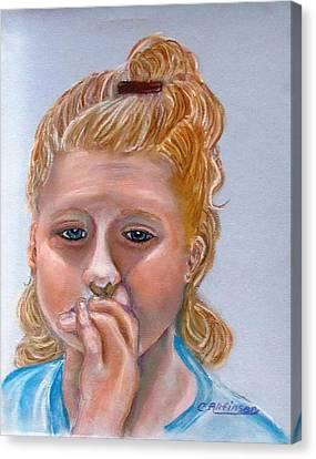 Broken Hearted Canvas Print by Carol Allen Anfinsen