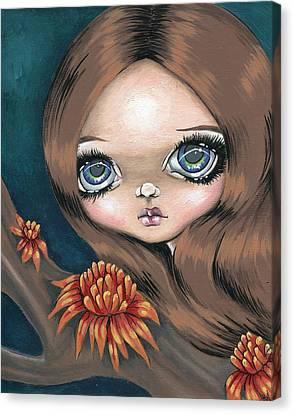 Bromeliad Beauty Canvas Print by Sour Taffy