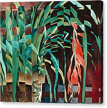 Bromeliad Canvas Print by Eunice Olson