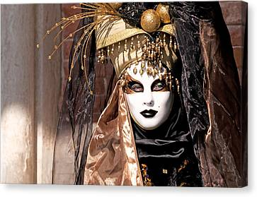 Bronce Mask Canvas Print by Karin Haas