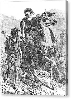Bronze Age Warrior Canvas Print by Photo Researchers
