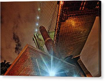 Brooklyn Bridge At Night Canvas Print by Alex AG