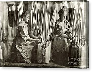 Broom Manufacture, 1908 Canvas Print by Granger