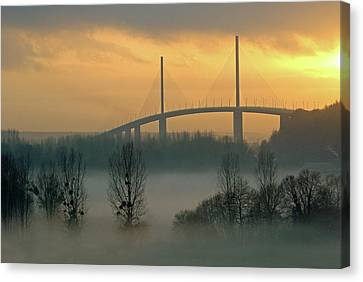 Brotonne Bridge Canvas Print by Photographie Hg Meunier