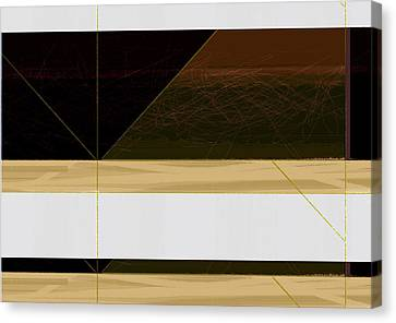 Brown Field Canvas Print by Naxart Studio