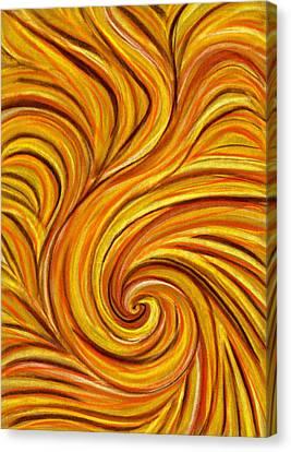 Brown Swirl Canvas Print by Hakon Soreide