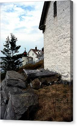 Browns Head Lighthouse Canvas Print by Skip Willits