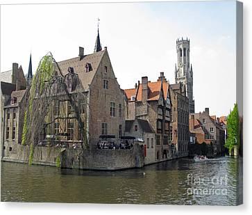 Brugge. Belgium. Spring 2011 Canvas Print by Ausra Huntington nee Paulauskaite