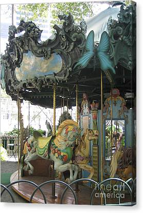 Bryant Park Carousel Canvas Print by Blanche Knake