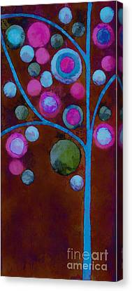 Bubble Tree - W02d - Left Canvas Print by Variance Collections