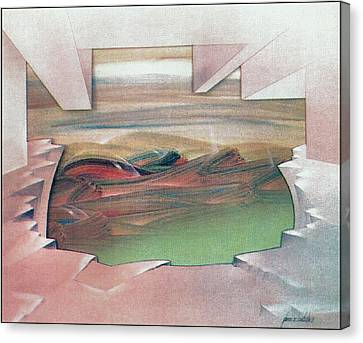 Bubblescape 1980 B Canvas Print by Glenn Bautista