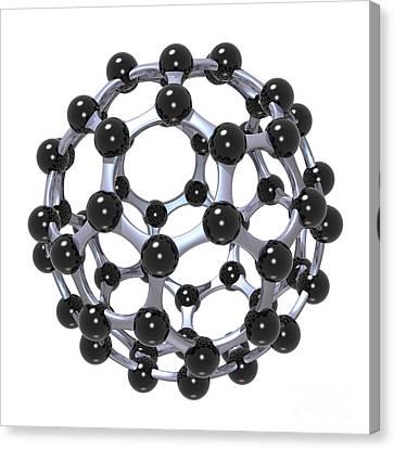 Buckminsterfullerene Or Buckyball C60 18 Canvas Print by Russell Kightley