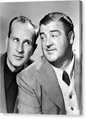 Bud Abbott And Lou Costello Abbott Canvas Print by Everett