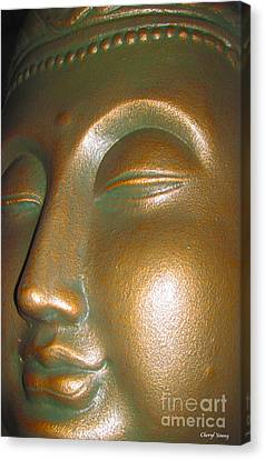 Buddha 25 Canvas Print by Cheryl Young