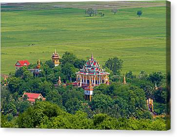 Buddist Temple Canvas Print by David Freuthal