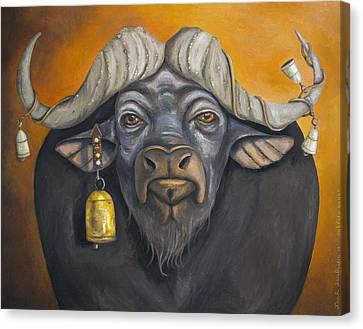 Buffalo Bells Canvas Print by Leah Saulnier The Painting Maniac