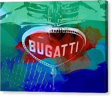 Bugatti Badge Canvas Print by Naxart Studio